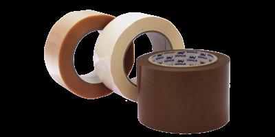 trois rouleaux de pvc gaufré blanc marron et transparent lima adhésifs
