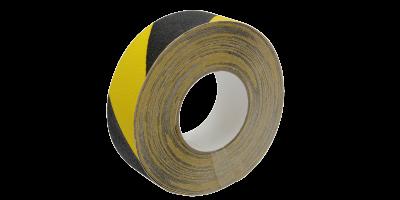 rouleau antidérapant adhésif jaune et noir lima adhésifs
