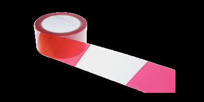 rouleau signalisation film danger rouge et blanc