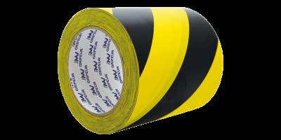 rouleau signalisation pvc jaune et noir lima adhésifs