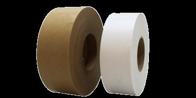 rouleaux adhésifs écologique d'emballage bande gommée havane et blanc de chez LIMA Adhésifs