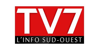 Logo chaîne télé d'information TV7 Nouvelle Aquitaine basée à Bordeaux