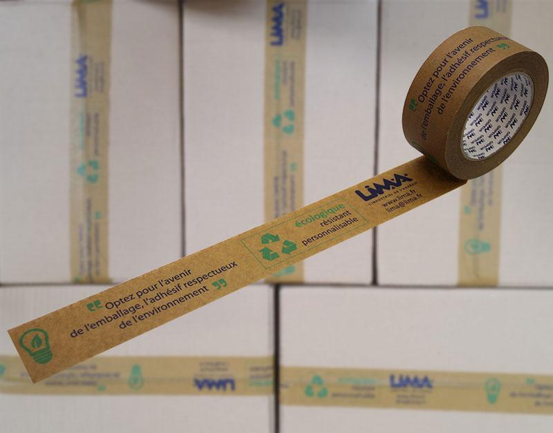 adhésif écologique imprimé pour l'emballage de cartons